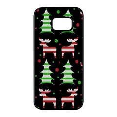 Reindeer decorative pattern Samsung Galaxy S7 edge Black Seamless Case