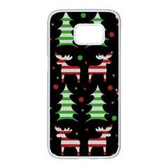 Reindeer decorative pattern Samsung Galaxy S7 edge White Seamless Case
