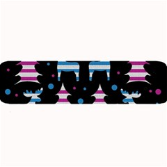 Blue and pink reindeer pattern Large Bar Mats
