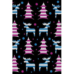 Blue and pink reindeer pattern 5.5  x 8.5  Notebooks