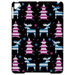Blue and pink reindeer pattern Apple iPad Pro 9.7   Hardshell Case
