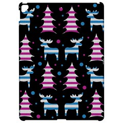 Blue and pink reindeer pattern Apple iPad Pro 12.9   Hardshell Case