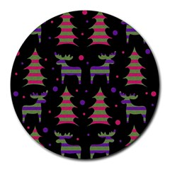 Reindeer magical pattern Round Mousepads