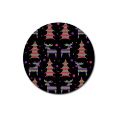 Reindeer magical pattern Magnet 3  (Round)