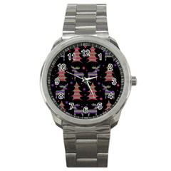 Reindeer magical pattern Sport Metal Watch