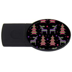 Reindeer magical pattern USB Flash Drive Oval (4 GB)