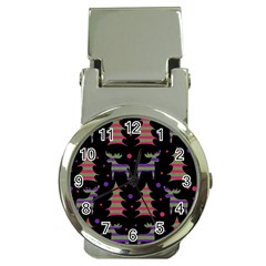 Reindeer magical pattern Money Clip Watches