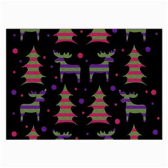 Reindeer magical pattern Large Glasses Cloth (2-Side)