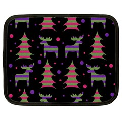 Reindeer magical pattern Netbook Case (Large)
