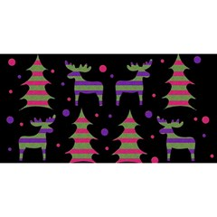 Reindeer Magical Pattern You Are Invited 3d Greeting Card (8x4)