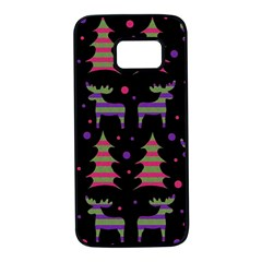 Reindeer magical pattern Samsung Galaxy S7 Black Seamless Case
