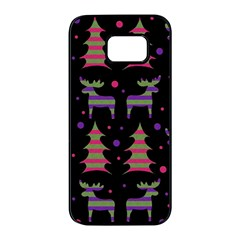 Reindeer magical pattern Samsung Galaxy S7 edge Black Seamless Case