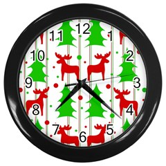 Reindeer elegant pattern Wall Clocks (Black)