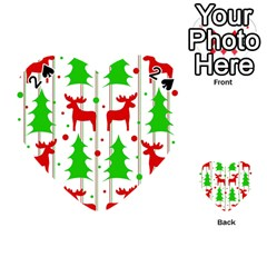 Reindeer elegant pattern Playing Cards 54 (Heart)