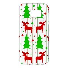 Reindeer elegant pattern Samsung Galaxy S7 Edge Hardshell Case