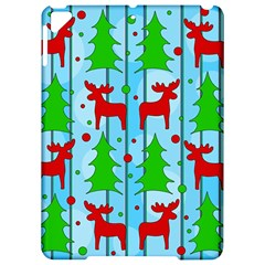 Xmas reindeer pattern - blue Apple iPad Pro 9.7   Hardshell Case