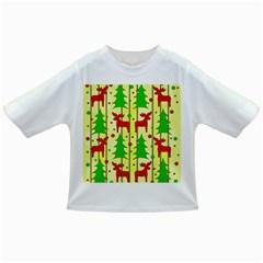 Xmas reindeer pattern - yellow Infant/Toddler T-Shirts