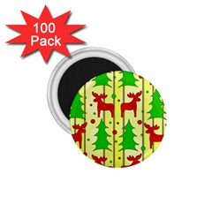 Xmas Reindeer Pattern   Yellow 1 75  Magnets (100 Pack)
