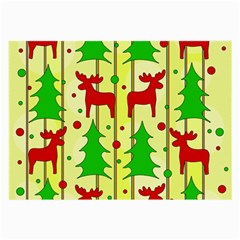 Xmas reindeer pattern - yellow Large Glasses Cloth