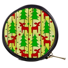 Xmas reindeer pattern - yellow Mini Makeup Bags
