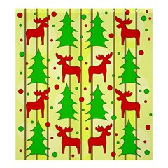 Xmas reindeer pattern - yellow Shower Curtain 66  x 72  (Large)