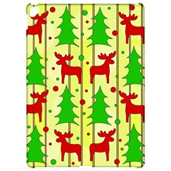 Xmas Reindeer Pattern   Yellow Apple Ipad Pro 12 9   Hardshell Case