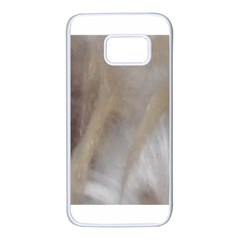 Scottish Deerhound Eyes Samsung Galaxy S7 White Seamless Case