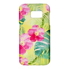 Tropical Dream Hibiscus Pattern Samsung Galaxy S7 Hardshell Case