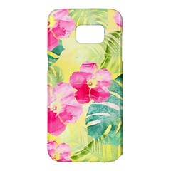 Tropical Dream Hibiscus Pattern Samsung Galaxy S7 Edge Hardshell Case