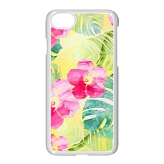 Tropical Dream Hibiscus Pattern Apple Iphone 7 Seamless Case (white)