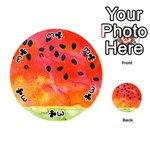 Abstract Watermelon Playing Cards 54 (Round)  Front - Club3