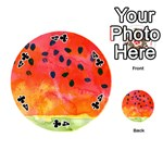 Abstract Watermelon Playing Cards 54 (Round)  Front - Club4