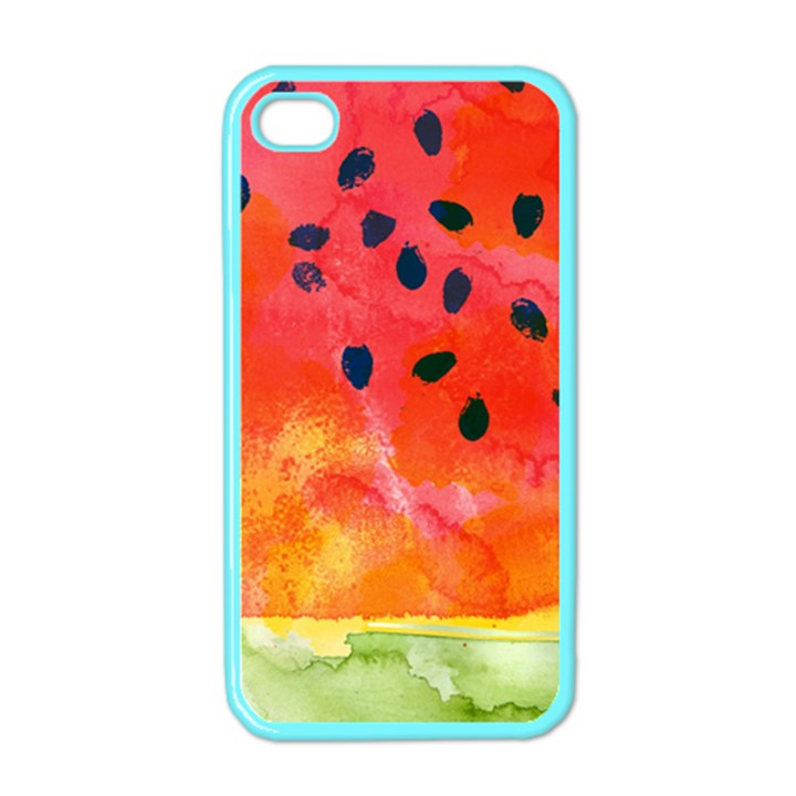 Abstract Watermelon Apple iPhone 4 Case (Color)