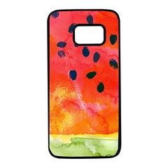 Abstract Watermelon Samsung Galaxy S7 Black Seamless Case