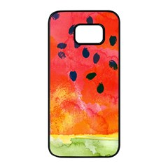 Abstract Watermelon Samsung Galaxy S7 Edge Black Seamless Case