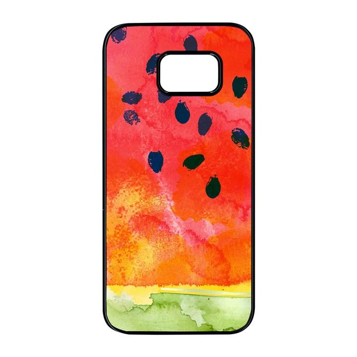 Abstract Watermelon Samsung Galaxy S7 edge Black Seamless Case