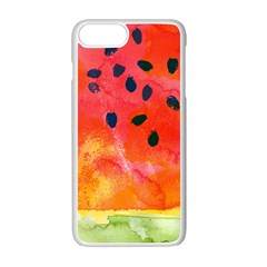 Abstract Watermelon Apple Iphone 7 Plus White Seamless Case
