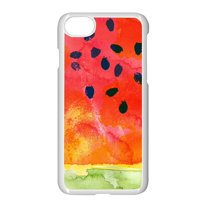 Abstract Watermelon Apple iPhone 7 Seamless Case (White)