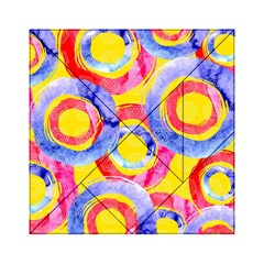 Blue And Pink Dream Acrylic Tangram Puzzle (6  X 6 )