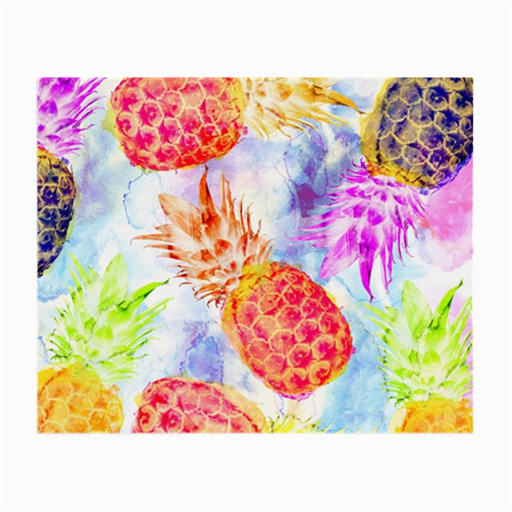 Colorful Pineapples Over A Blue Background Small Glasses Cloth (2-Side)
