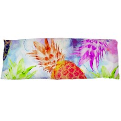 Colorful Pineapples Over A Blue Background Body Pillow Case (dakimakura)