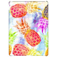 Colorful Pineapples Over A Blue Background Apple Ipad Pro 12 9   Hardshell Case