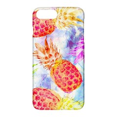 Colorful Pineapples Over A Blue Background Apple Iphone 7 Plus Hardshell Case