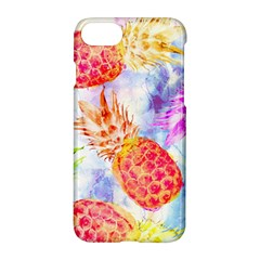 Colorful Pineapples Over A Blue Background Apple Iphone 7 Hardshell Case