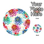Colorful Dahlias Playing Cards 54 (Round)  Front - HeartA