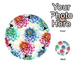 Colorful Dahlias Playing Cards 54 (Round)  Front - Club2