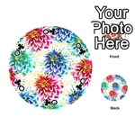 Colorful Dahlias Playing Cards 54 (Round)  Front - ClubQ