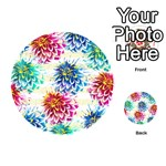 Colorful Dahlias Playing Cards 54 (Round)  Back