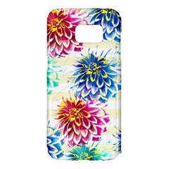 Colorful Dahlias Samsung Galaxy S7 Edge Hardshell Case