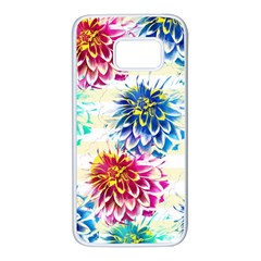 Colorful Dahlias Samsung Galaxy S7 White Seamless Case